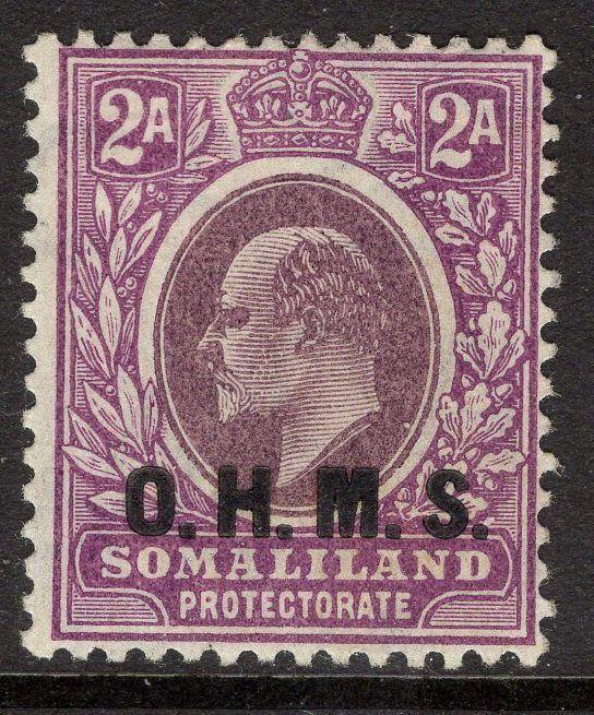 SOMALILAND SGO14 1905 2a DULL & BRIGHT PURPLE MTD MINT