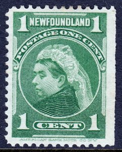Newfoundland - Scott #80 - Used - Straight edge - SCV $0.25