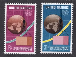 United Nations  New York  #274-275  1976  MNH   conference trade