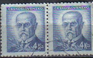 CZECHOSLOVAKIA, 1945 used 4k, Presidents