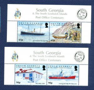 SOUTH GEORGIA - # 396-397 - MNH pairs  - Post Office, Ship - 2009