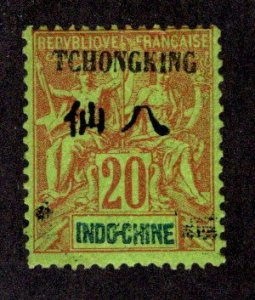 FRANCE - OFFICES IN CHINA - TCHONGKING SC# 7  F/MOG  1903