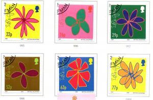 Isle of Man Sc 960-5 2002 McCartney Sketches stamp set used