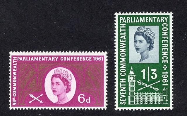 Great Britain  #385-386  1961  MNH parliamentary conference