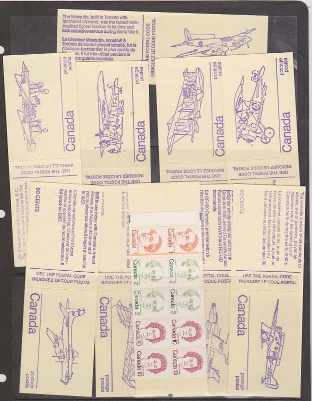 Canada USC #BK76h 1976 Caricature 10 Booklets - Orange Line Next to 1c