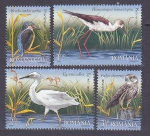 2009 Romania 6343-6346 Birds