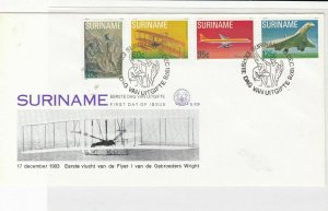 Suriname 1978  Air flight First day issue Wright Brothers stamps cover ref 21764