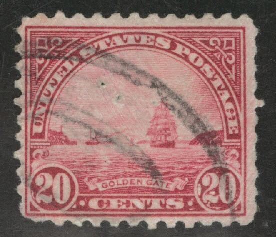 USA Scott 567 Used perf 11 Golden Gate stamp