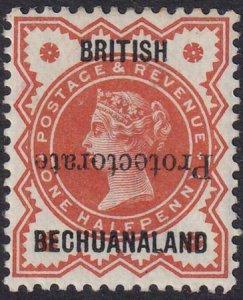 Bechuanaland 1888-1890 SC 53a / SG54a MLH 15mm Inverted
