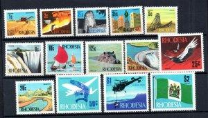 Rhodesia 1970 Definitive mint MH set SG439-452 WS18814