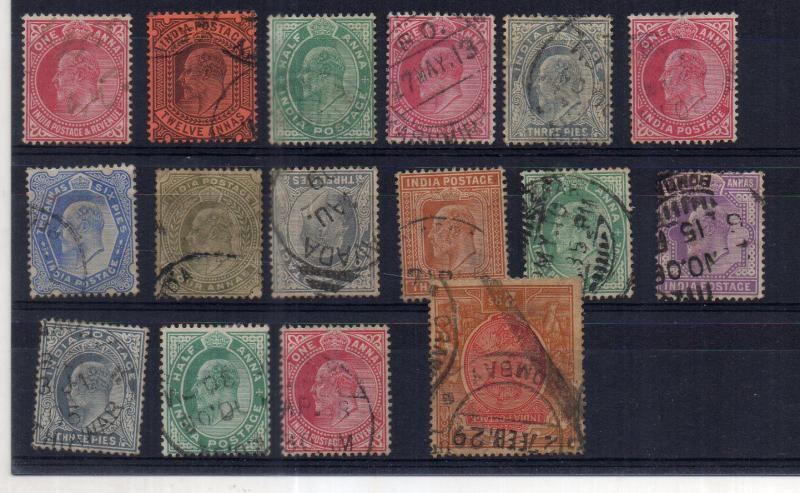 India/ ke  1902 fine hcv lot