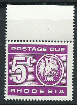 Rhodesia SG D20  MUH   Postage Due Margin Copy