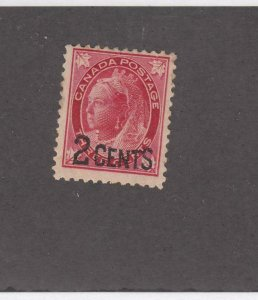 CANADA (MK4503)  # 87  F-MH  2 on 3cts  QV PROVISIONAL ISSUE /CARM CAT VAL $10