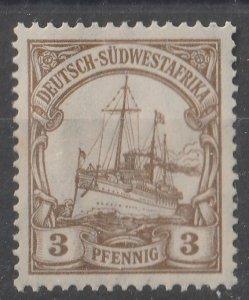 German South West Africa 1906/1919 Kaiser's Yacht Hohenzollern 3pf (1/9) MNH