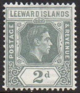 Leeward Islands 1938 2d olive-grey MH