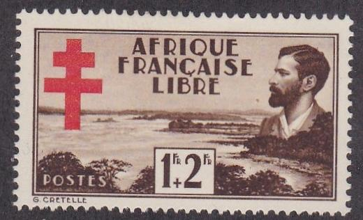 French Equatorial Africa # B9, Brazza & Stanley Pool, LH, 1/3 Cat