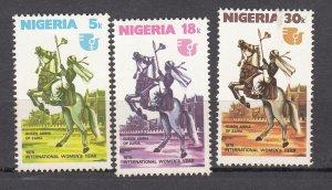 J27621 1975 nigeria set mnh #331-3 horses