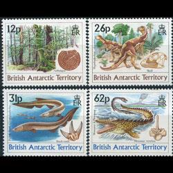 BR.ANTARCTIC TERR. 1990 - Scott# 172-5 Dino.Age Set of 4 NH
