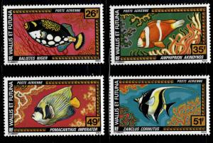 Wallis and Futuna Islands Scott C74-77 MNH** 1978 Fish airmail set