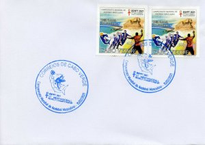 Cape Verde 2021 FDC Sports Stamps World Handball Championship Egypt 2021 2v Set