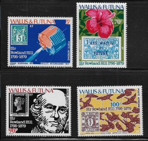 WALLIS & FUTUNA C90-C93 MNH SIR ROWLAND HILL SET 1979