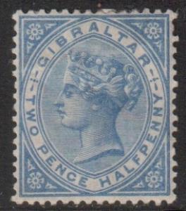 Gibraltar Scott 14 - SG11, 1886 Victoria 2.1/2d MH*