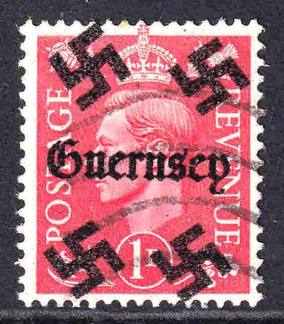 GREAT BRITAIN 1p GUERNSEY OVERPRINT USED F/VF  SOUND