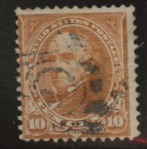 USA Scott 283 Used 1898 orange brown Webster