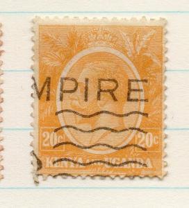 Kenya Uganda 1922 GV Early Issue Fine Used 20c. 198426