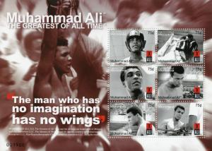 Micronesia Boxing Stamps 2008 MNH Muhammad Ali Famous People Sports 6v M/S II