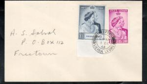 Sierra Leonne #188 - #189 Very Fine Used On 1st Day Cover