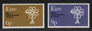 Ireland European Conservation Year 2v SG#274-275