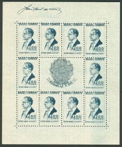 BRAZIL #466 Souvenir sheet, NGAI, VF, Scott $55.00
