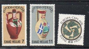 Greece Sc  1173-1175 1976  Europa stamp set mint  NH