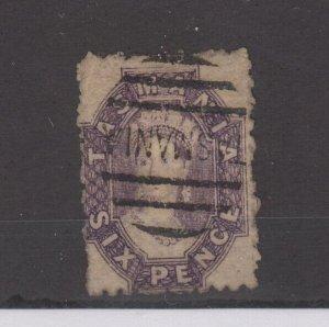 Tasmania QV 1864 6d Chalon SG64 Fine Used JK2352