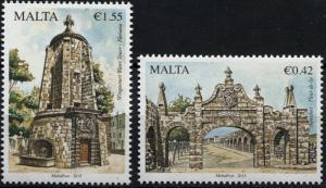 Malta. 2015. Treasures of Malta Series III - Aqueducts (MNH OG) Set of 2 stamps