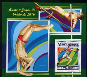 MOZAMBIQUE 2015 BRAZIL OLYMPICS   SOUVENIR SHEET MINT NEVER HINGED