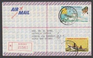 PAPUA NEW GUINEA 1982 Registered cover ex BOROKO ...........................M247