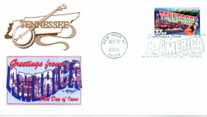 US FDC #3737 Greetings From Tennessee, Artmaster (9720)