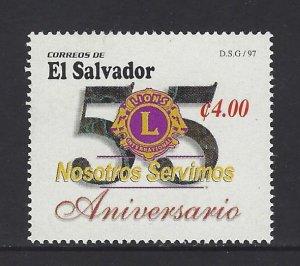 EL SALVADOR LIONS CLUB 55th ANNIVERSARY Sc 1463 MNH 1997