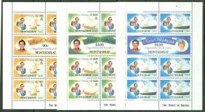 XL item Montserrat 465-70 MNH sheets CV $22.15