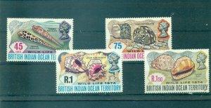 B.I.O.T. - Sc# 59-62. 1974 Sea Shells. MNH $11.50.