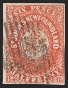 Canada / Newfoundland Scott 7 Gibbons 7 Used Stamp