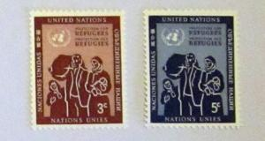 UN, NY - 15-16, MNH Set. Refugee Family. SCV - $0.70