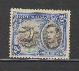 Grenada Sc 140 1938 2/ G V & seal stamp mint