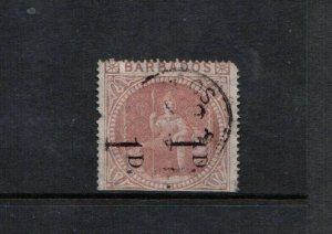 Barbados #57a (SG #86b) Used Unsevered Pair - Small Flaws As Indicated On Cert.