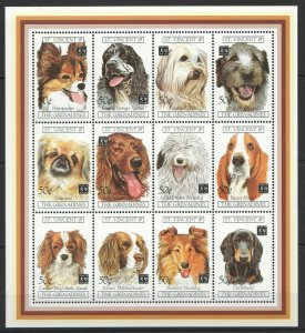 PK053 ST.VINCENT FAUNA DOMESTIC ANIMALS PETS DOGS 1KB MNH STAMPS