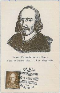 37218   MAXIMUM CARD - SPAIN : LITTERATURE - Pedro Calderón de la Barca 1951