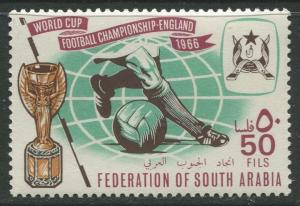 STAMP STATION PERTH South Arabia #24 World Cup Soccer Issue 1966 MNH  CV$1.50