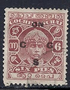 India - Cochin #O51 (U) CV $6.00